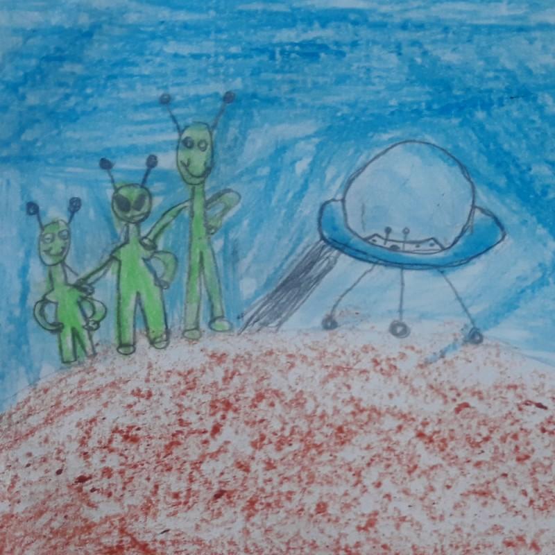 Los tres marcianos. Cuentos cortos para niños escritos por niños