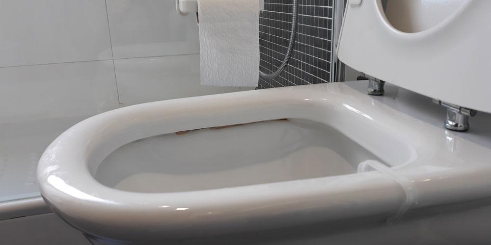 limpiar las manchas del inodoro