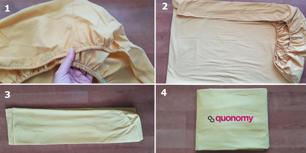 cómo doblar sábanas bajeras