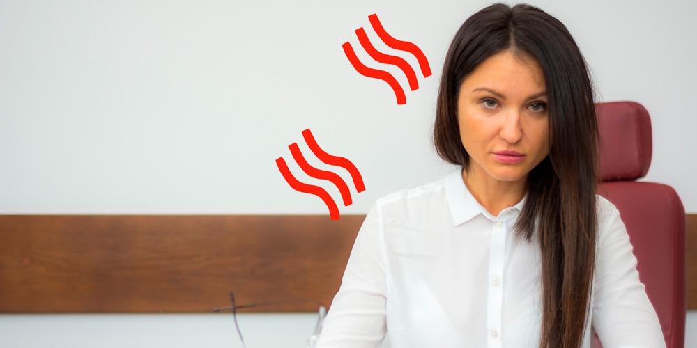 sofocos de la menopausia en el trabajo