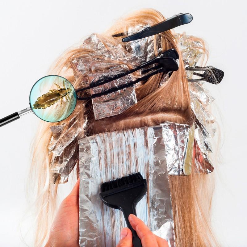 ¿Se puede usar champú antipiojos con el cabello recién teñido?
