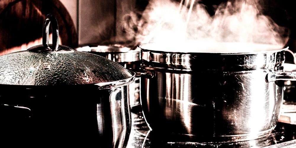 hervir o cocer al vapor los alimentos