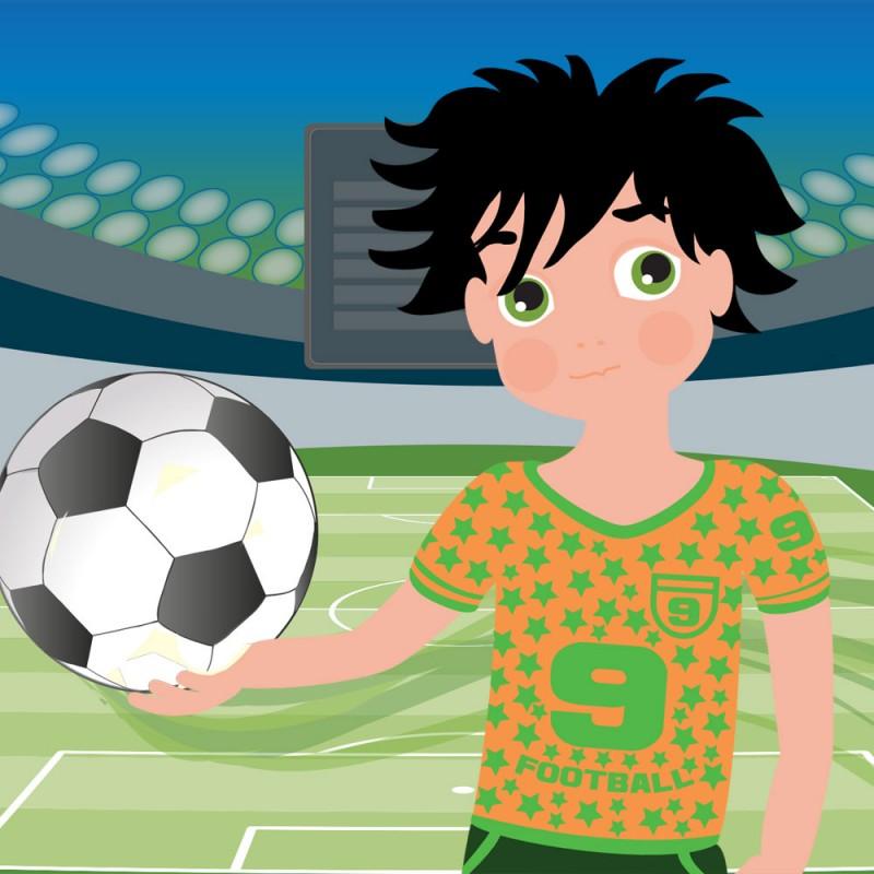 El niño que dejó de jugar al fútbol. Cuentos con moraleja inventados por niños