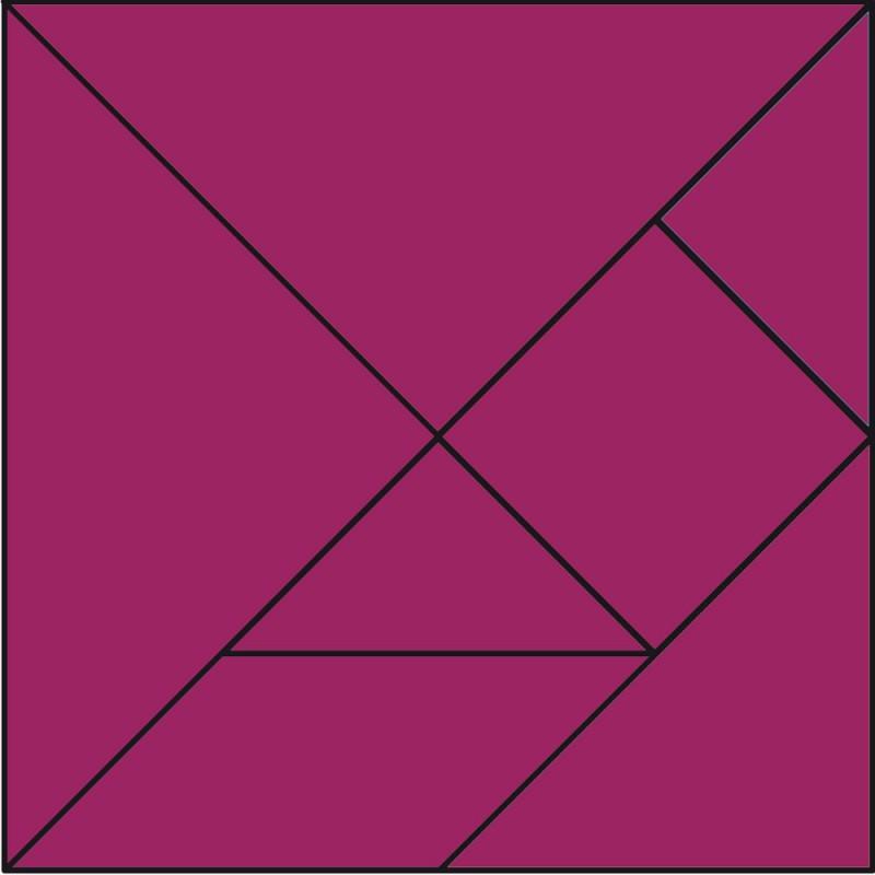 Tangram  de animales para imprimir y jugar. Figuras de tangram para niños y mayores
