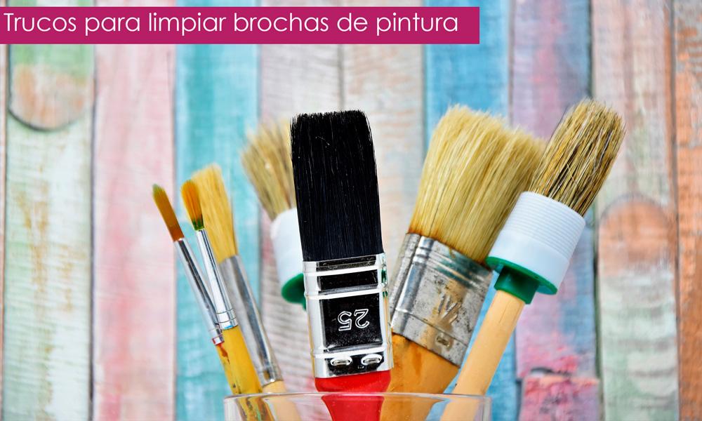 limpiar brochas de pintura