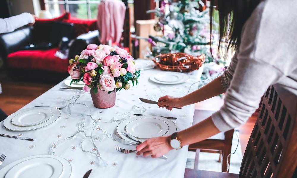 protocolo en la cena de Navidad