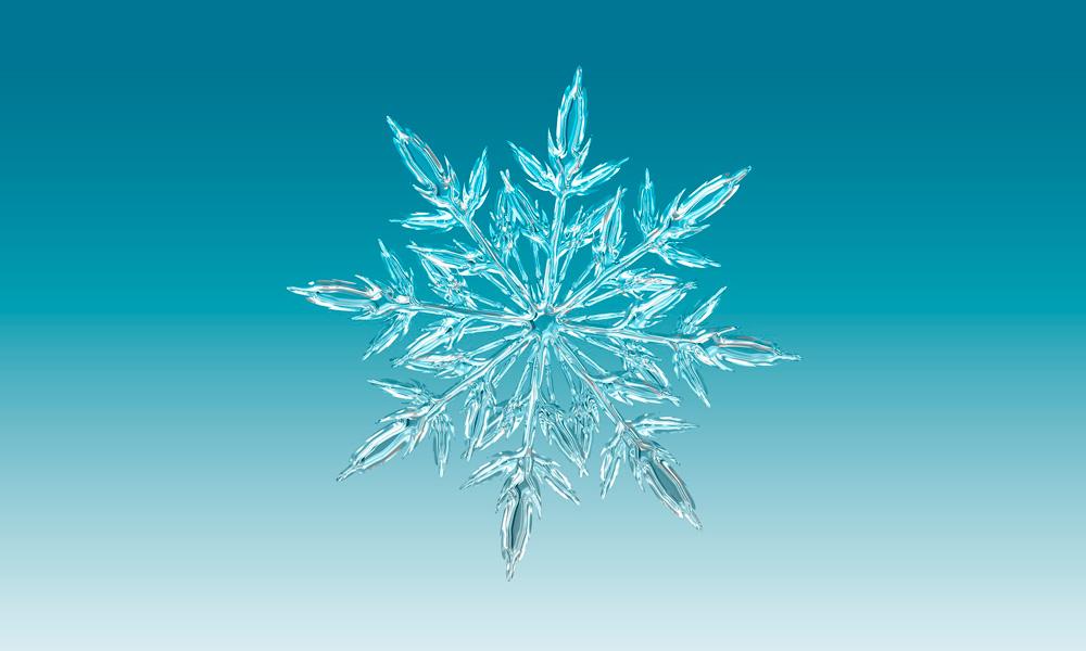forma de copo de nieve simétrica