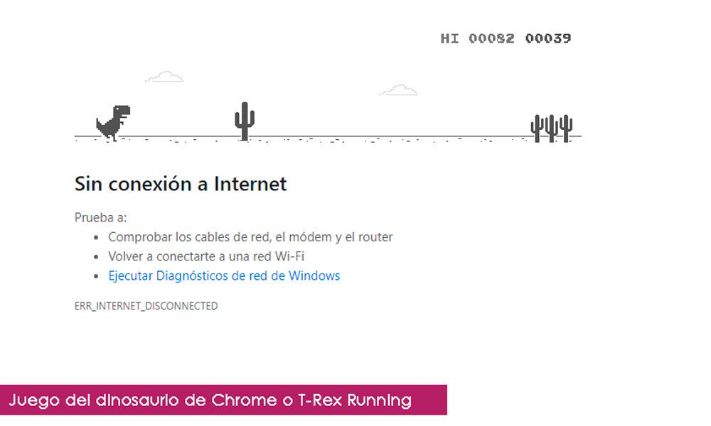 Juego del dinosaurio de Chrome