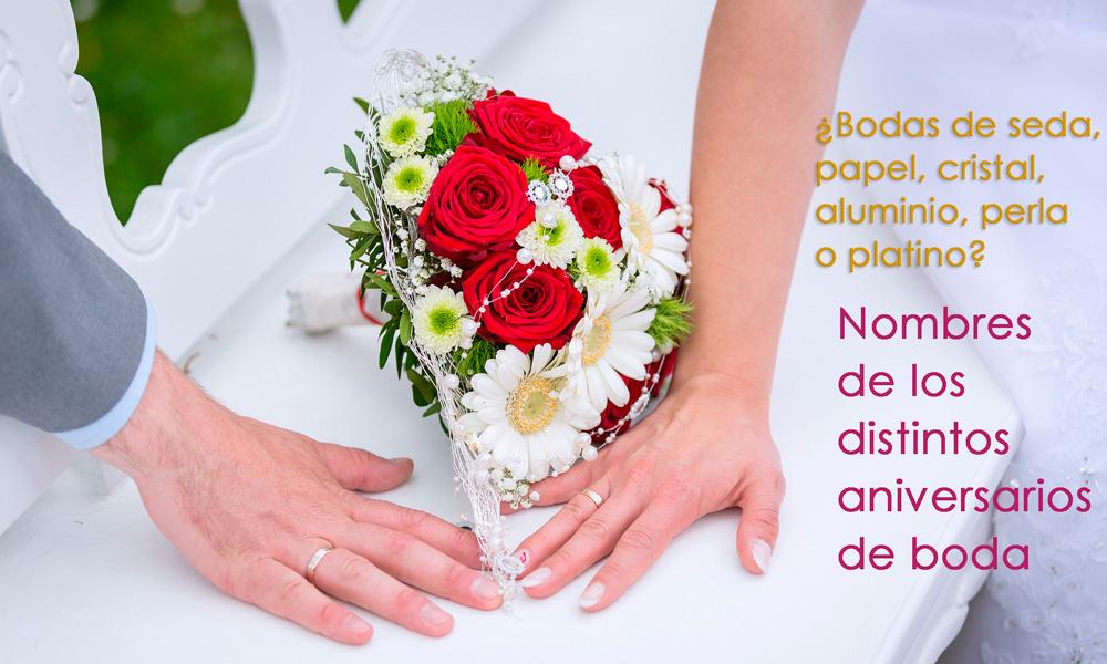 nombre de los aniversarios de boda