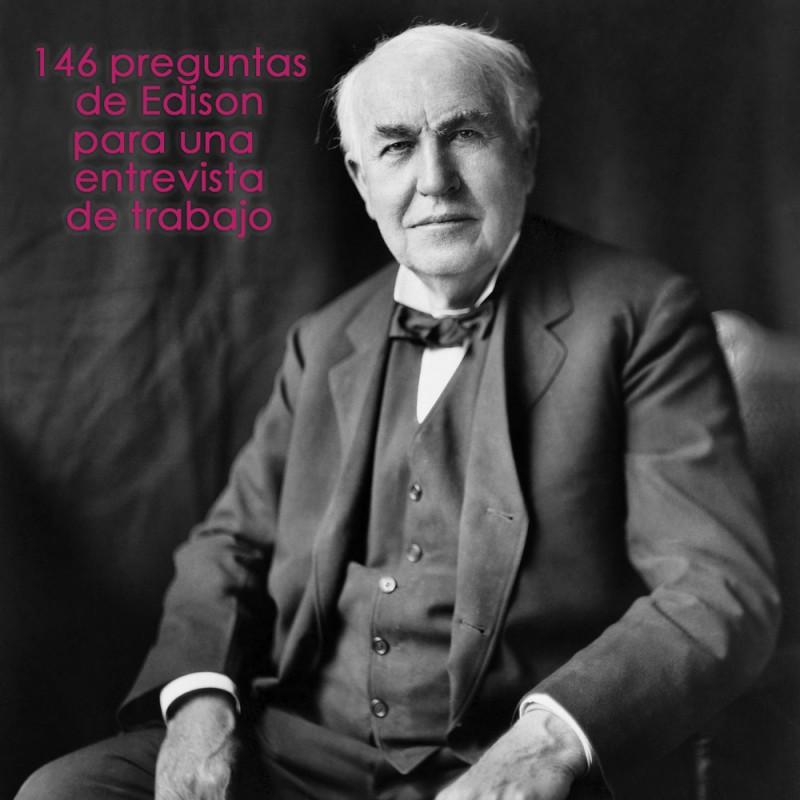 El legendario test para una entrevista de trabajo de Thomas Alva Edison, ¿podrías resolverlo?
