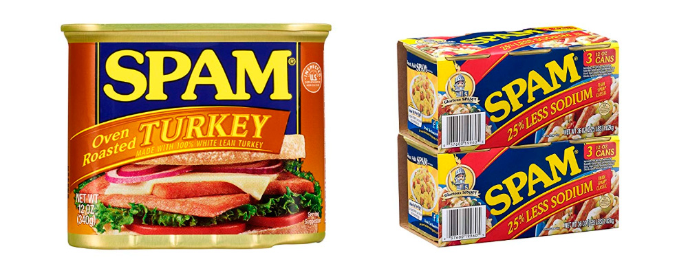 latas de comida spam