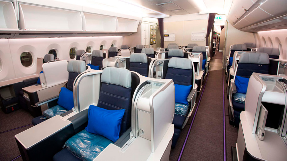 clase ejecutiva en un avión