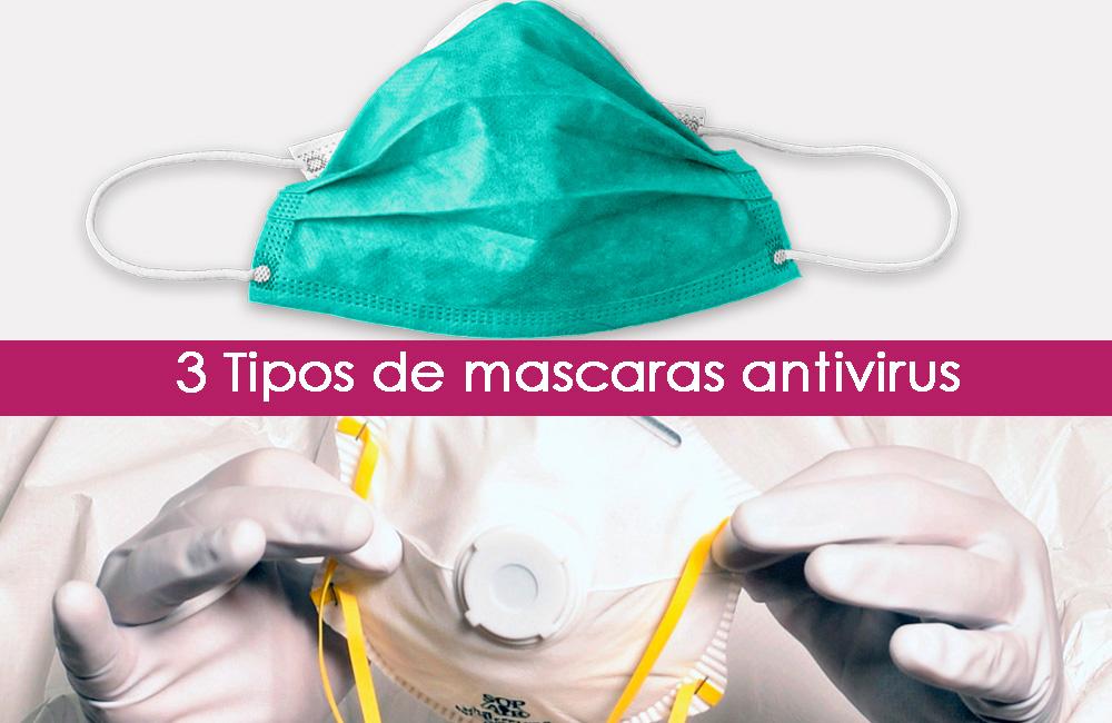 máscaras antivirus, qué tipos hay