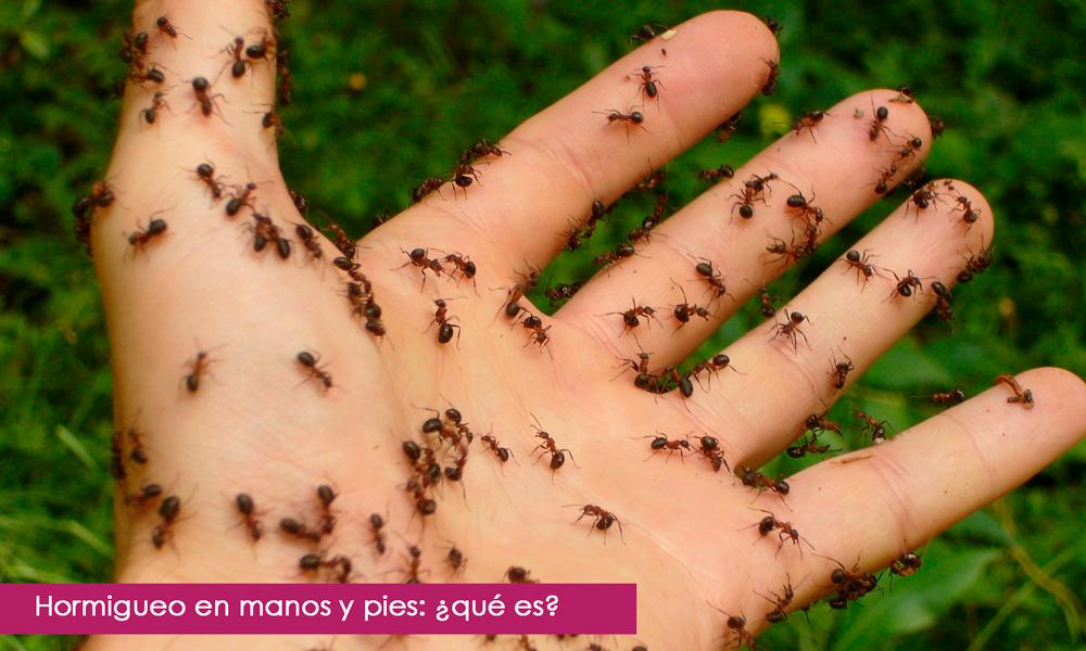 hormigueo en manos y pies