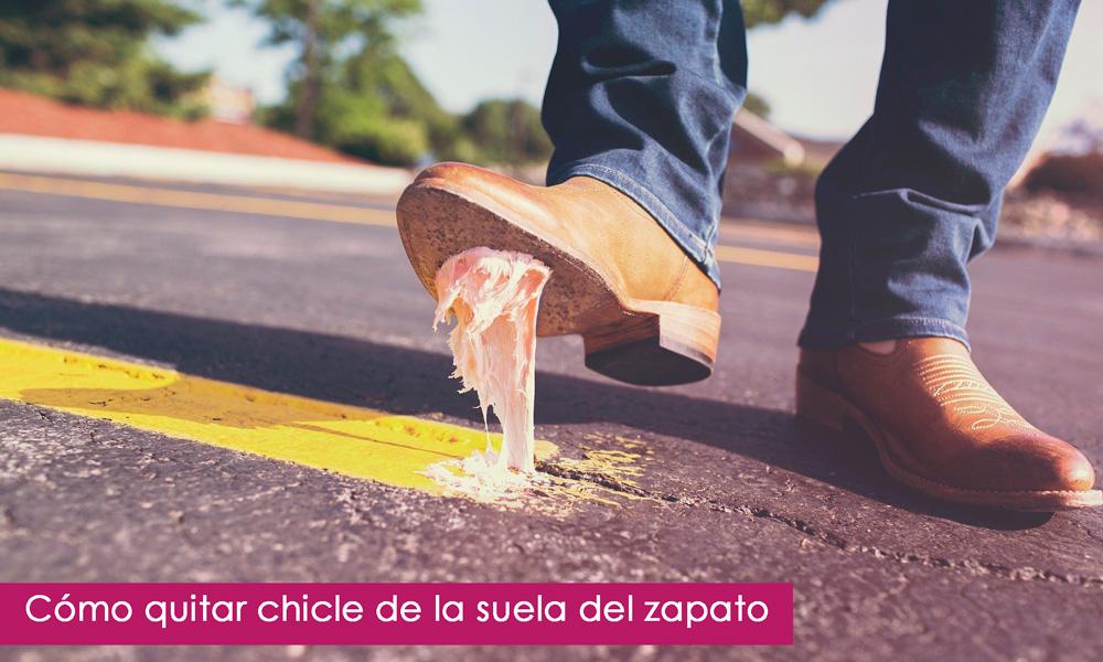 quitar chicle de la suela del zapatos
