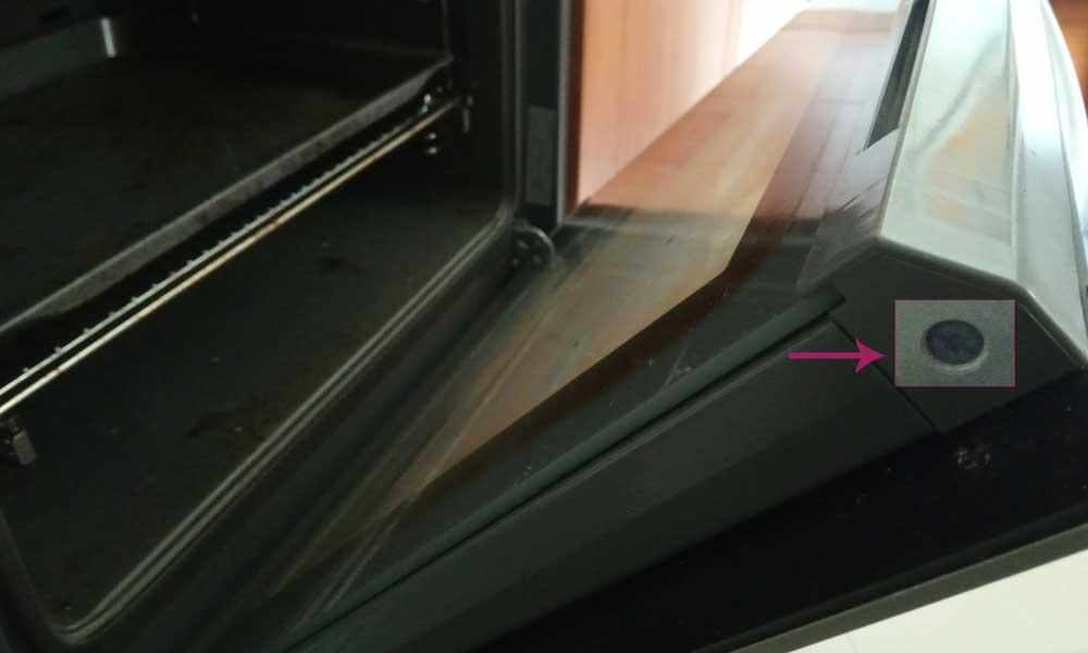 como desmontar el doble cristal del horno