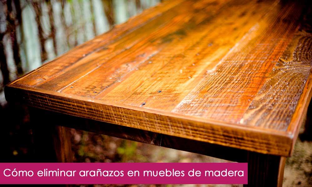 Arañazos en muebles de madera: soluciones