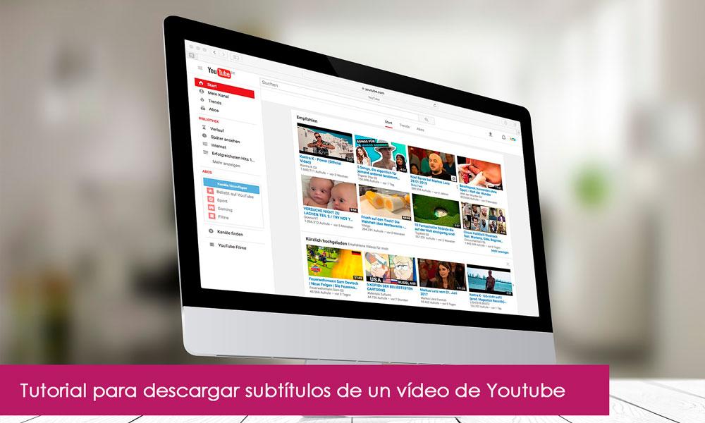 Como bajar subtítulos de un vídeo de Youtube