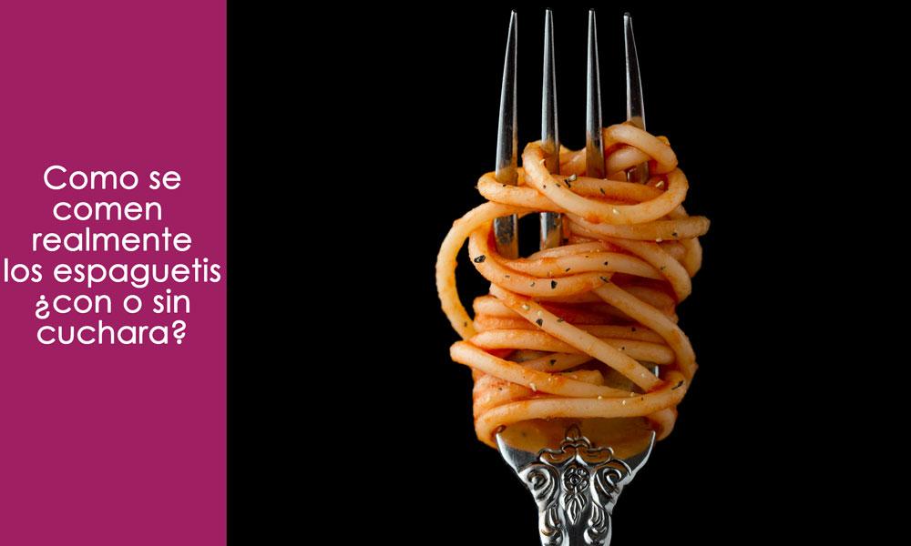 como se comen los espaguetis