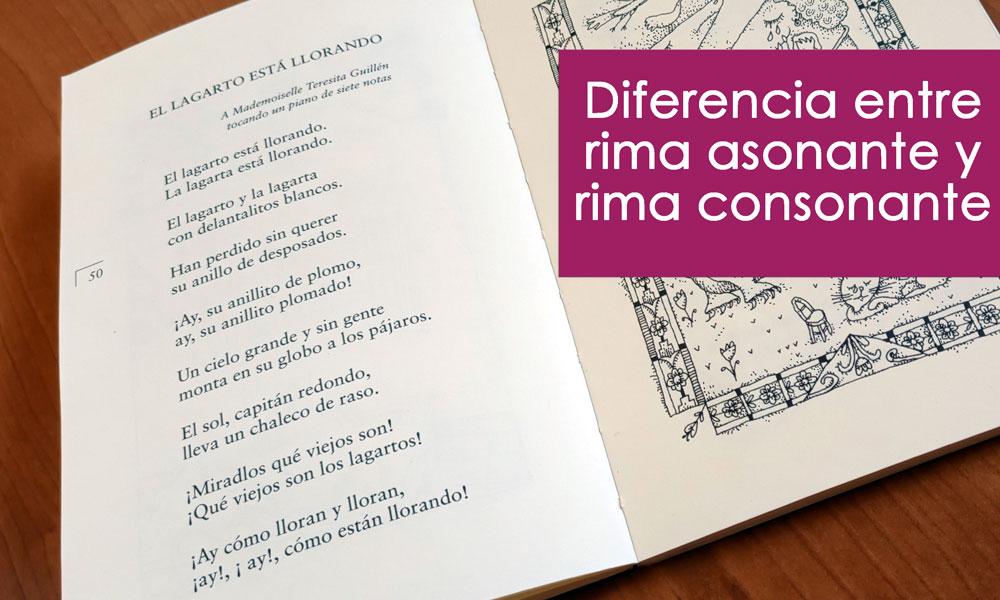Rima consonante vs rima asonante: diferencias