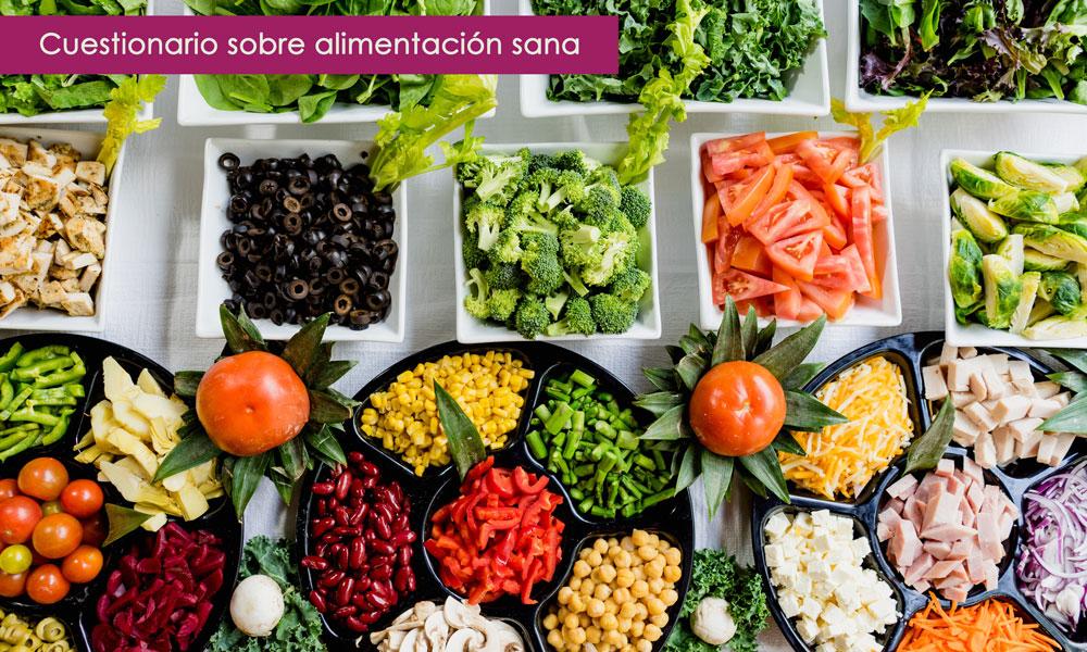 test sobre alimentación sana con respuestas