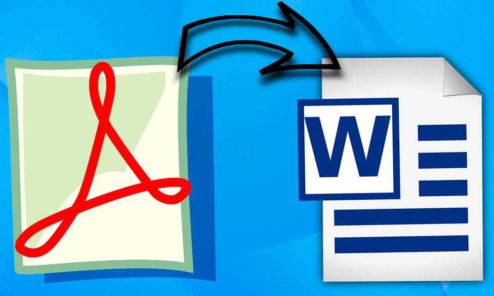 convertir un pdf a word de forma fácil