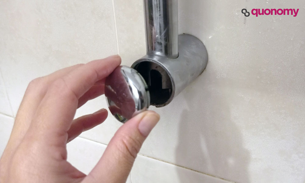 soporte para la ducha, paso 1