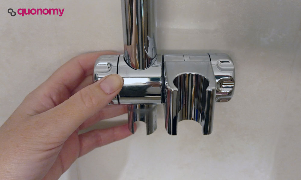 como cambiar la agarradera de la ducha