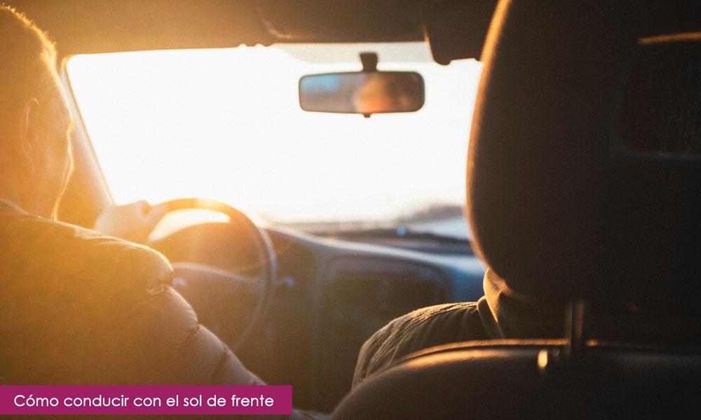 consejos para conducir con el sol de frente