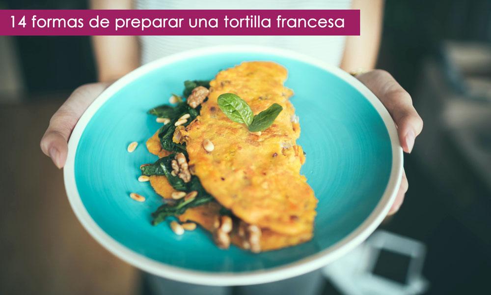 combinar una tortilla francesa con otros ingredientes
