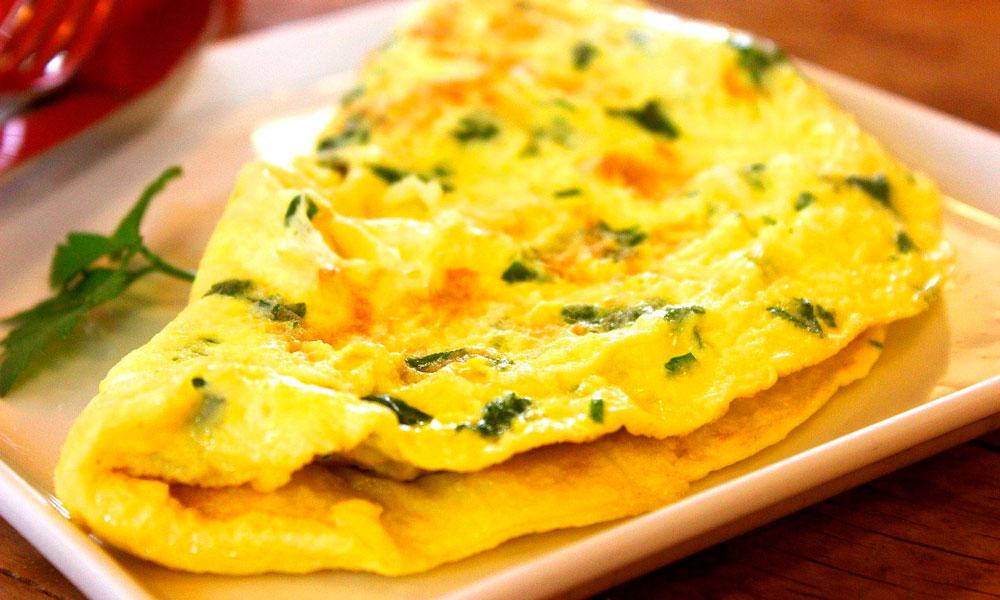 tortilla francesa con espinacas