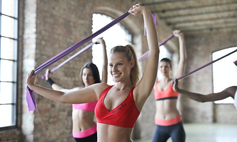 ejercicios con cintas elásticas