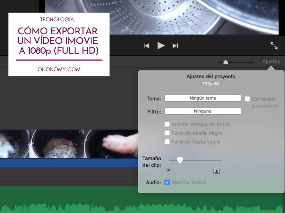 iMovie no me deja guardar a 1080, ¿cómo solucionarlo?