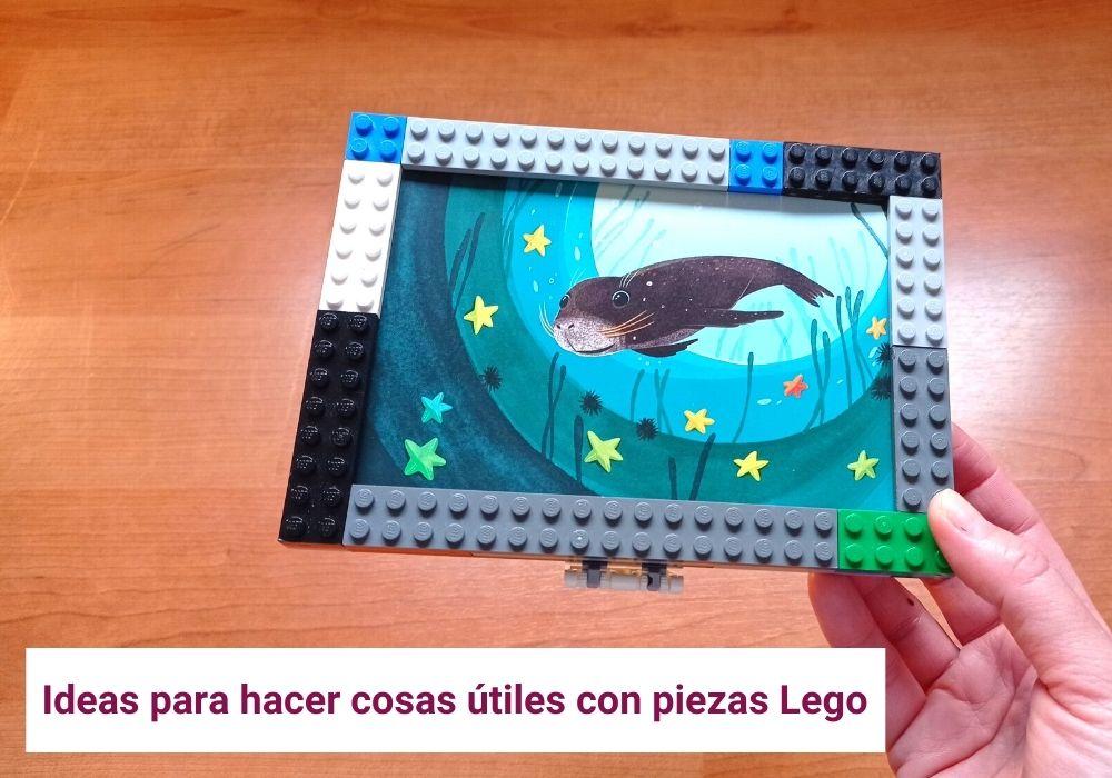 reciclar piezas lego y construir objetos útiles