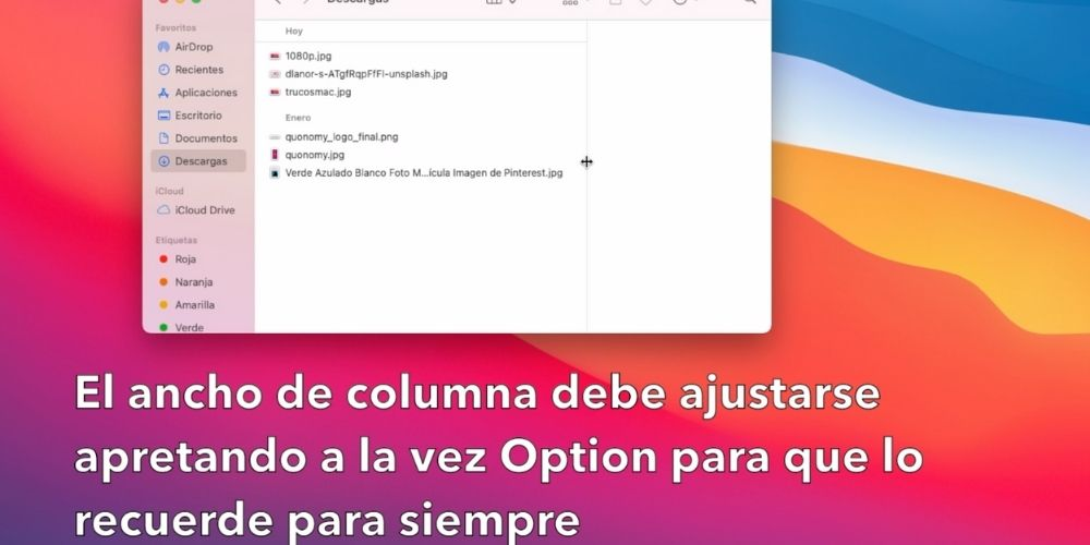 cambiar el ancho de columnas en mac