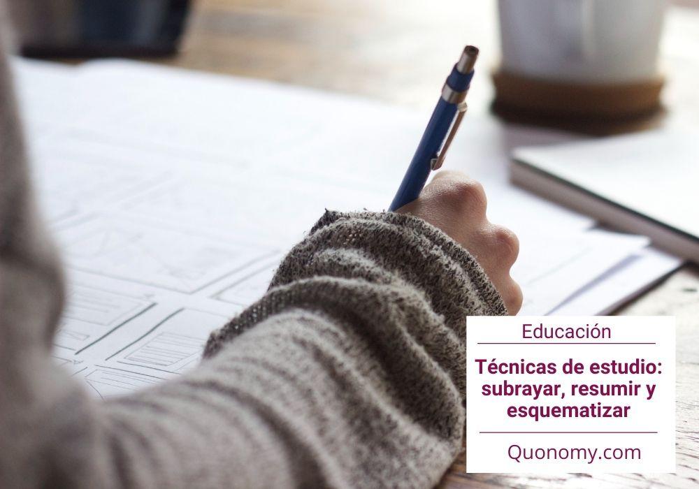 Técnicas para estudiar: subrayar, resumir y esquematizar