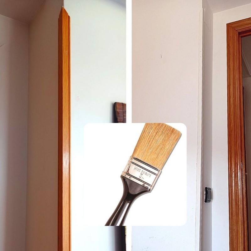 Cómo pintar de blanco las cantoneras de madera de tus paredes