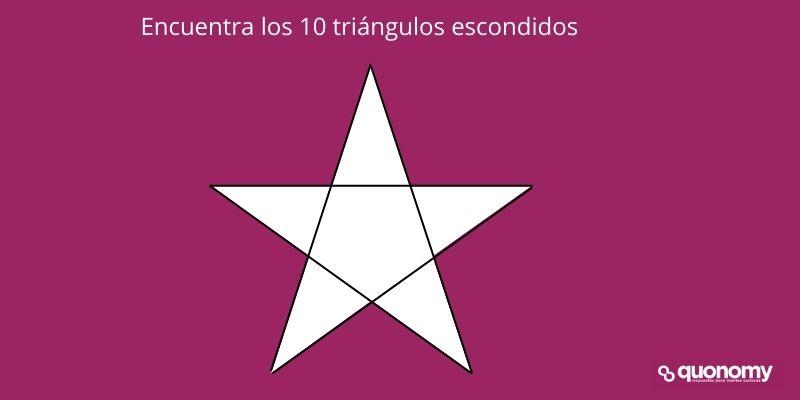 encuentra 10 triángulos