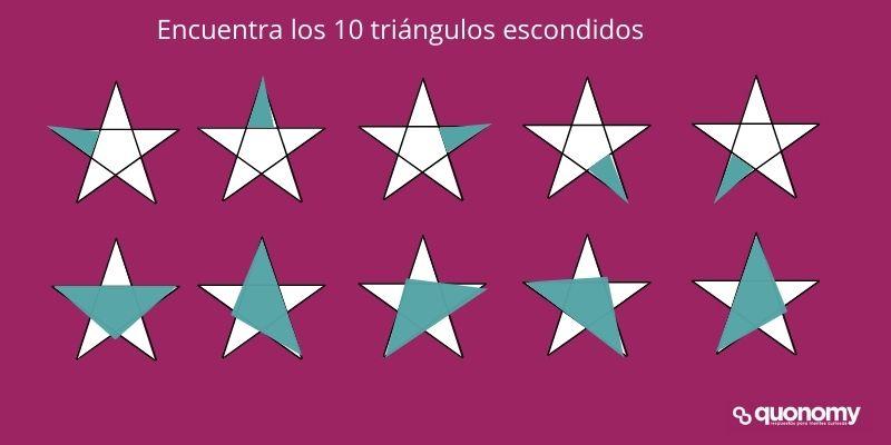 encuentra los triángulos