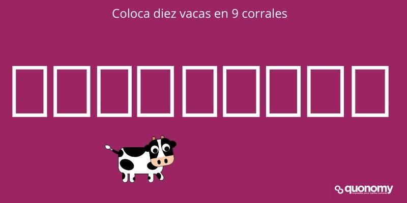 diez vacas en 9 corrales