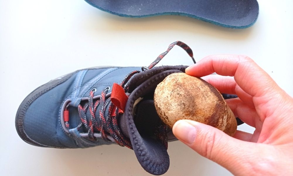 piedras calientes para secar zapatos