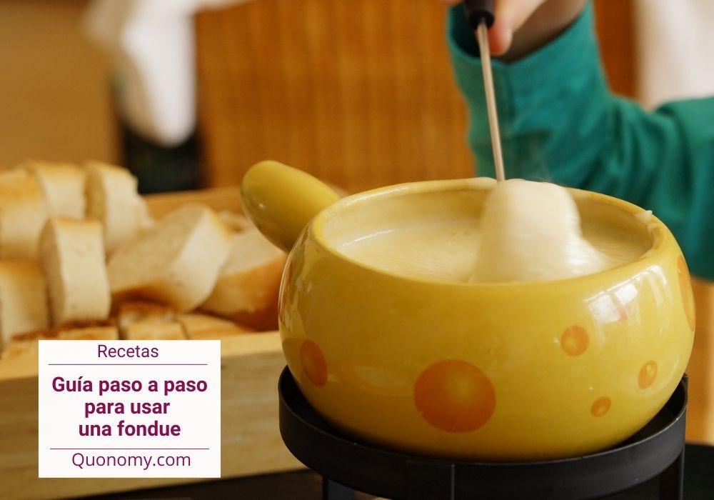 como se usa una fondue