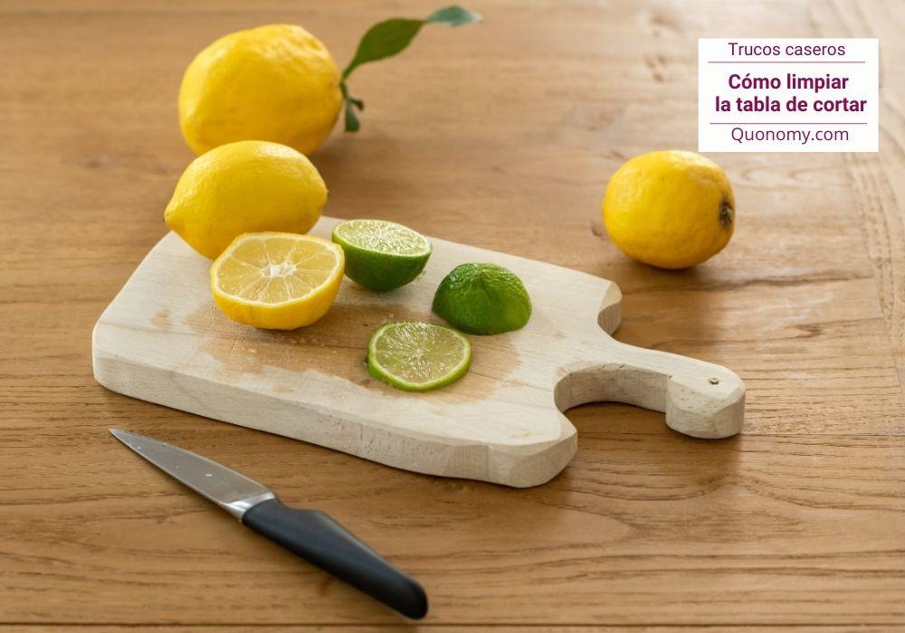 trucos para limpiar la tabla de cortar