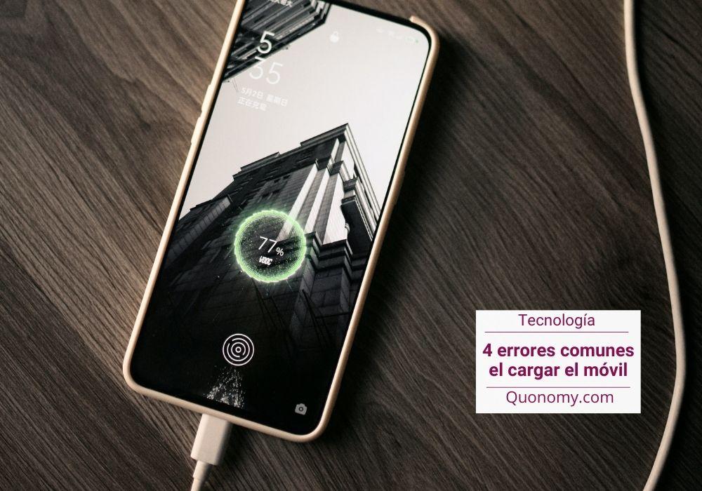 errores al cargar el smartphone