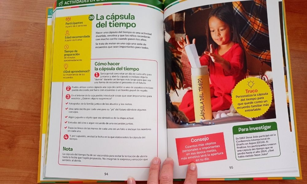 un libro de actividades para abuelos y nietos