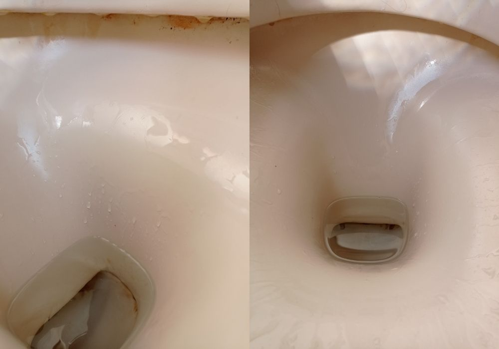 limpiar el inodoro