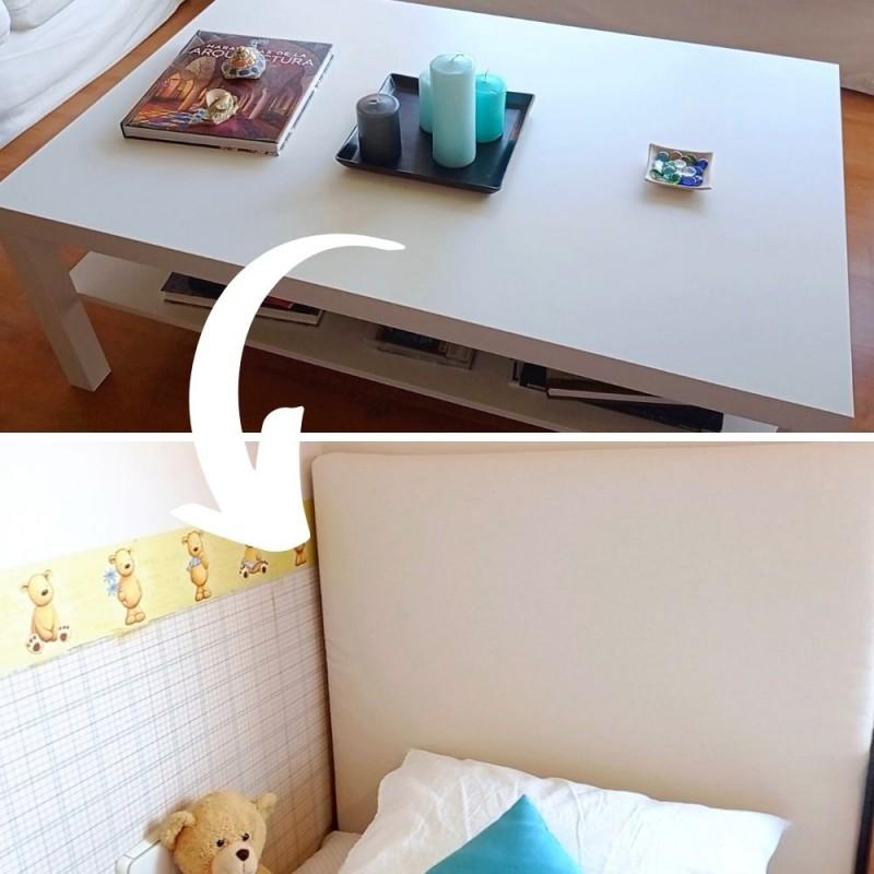 Cómo tapizar un cabecero de cama elaborado con una mesa reciclada