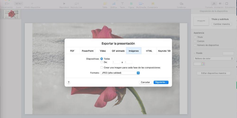 borrar fondo de imagen con keynote