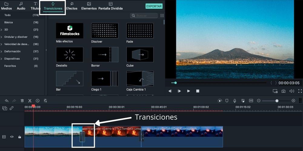 Editar un vídeo en Filmora fácil, paso 2