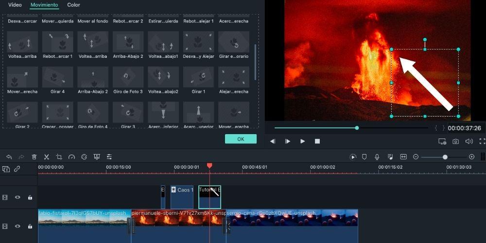 Editar un vídeo en Filmora fácil, paso 4